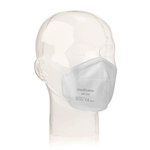 Medisana RM 100 FFP2/KN 95 Atemschutzmaske Staubmaske Atemmaske 3-lagig infektionssichere staubsichere Schutzmaske 10 Stück einzelverpackt im PE-Beutel