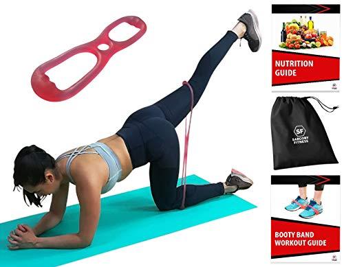 Sargoby Fitness den Po Band Set–für perfekte Butt–Brazilian Booty Gürtel und gelangen modellierte & Straff Butt auch Bedruckt Workout Guide und Tasche