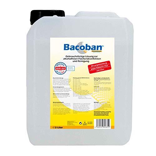 BACOBAN® Langzeit Flächendesinfektion, wasserbasiert - Fertiglösung, 3 Liter Desinfektion