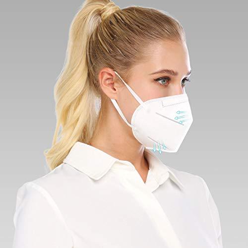 Atemschutz Maske Mundschutz Mund und Nasenschutz Atemmaske mit Nasenclip Sicherheitsschutz DE Stock (10)