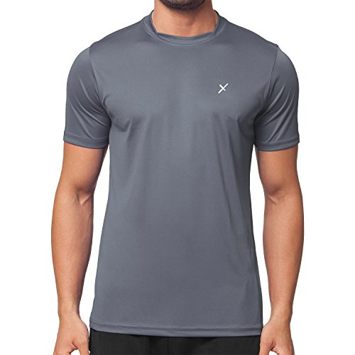 CFLEX Herren Sport Shirt Fitness T-Shirt Sportswear Collection - Grau M