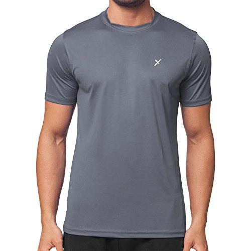 CFLEX Herren Sport Shirt Fitness T-Shirt Sportswear Collection - Grau M