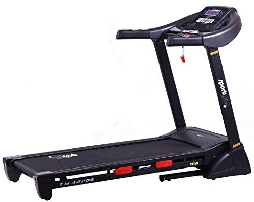 SportPlus Profi Laufband bis 20km/h, 16% Steigung elektrisch, 2,5 PS leiser Motor, 24 Trainingsprogramme, APP, Smartphone-Steuerung, große Lauffläche, Dämpfungssystem bis 125kg, klappbar