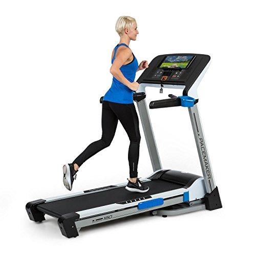 Capital Sports Pacemaker X60 - Laufband, 2,5/6,5 PS, Steigungswinkel bis 20°, 25 Trainingsprogramme, Pulssensor, 1-20 km/h, LCD-Display, weiß-schwarz
