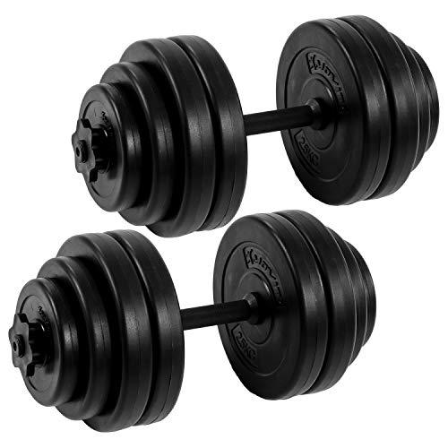 ScSPORTS® Hantelset 35 kg Hanteln SZ Stange Curlstange Curl Hantelscheiben 30 mm