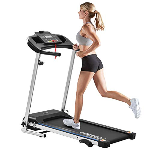 Merax Laufband Motorisiertes Laufband Elektrisches Klapplaufband 500W Motorisiertes Lauf- und Jogging-Fitnessgerät 12 km/h für Heim-Fitnessgeräte mit 12 Programmen,elektrisch klappbar