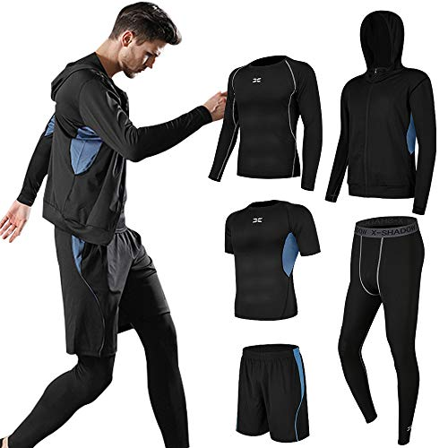 Superora Fitness Kleidung Set 5 stück männer Athletic Fitness Sport Anzug