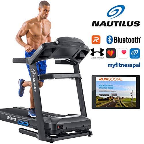 Nautilus Laufband T628 - 3, 5 PS Motor - Geschwindigkeit: 0.8 - 20 km/h - Steigung: 0 - 15 % - Soft-drop-Klappsystem - RunSocial kompatibel - Laufmatte 3ply