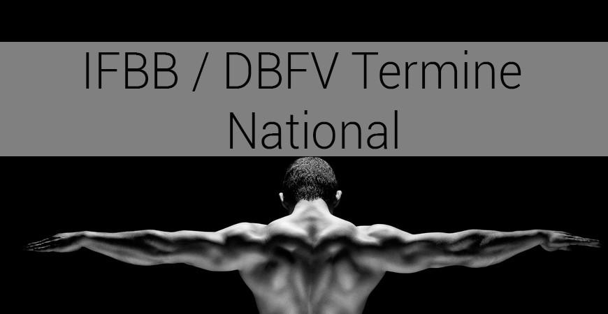 IFBB / DBFV Termine – National 2018